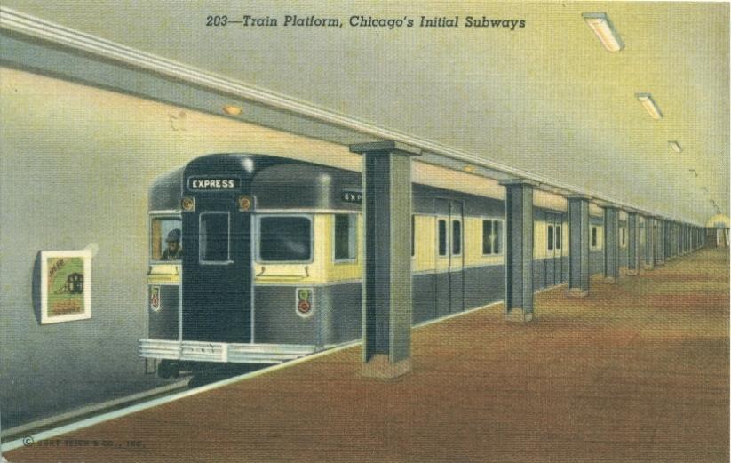 Railroads Commuter Amp El Trains Chicago History In Postcards