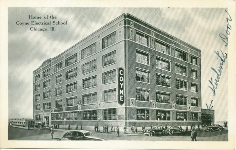 schools institutes vocational chicago history  postcards